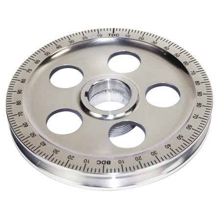 Polished Aluminum Degree Pulley, BLACK NUMBERS
