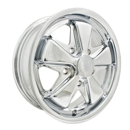 911 Porsche Fuchs style alloys 15 inch 5x130 ALL CHROMED