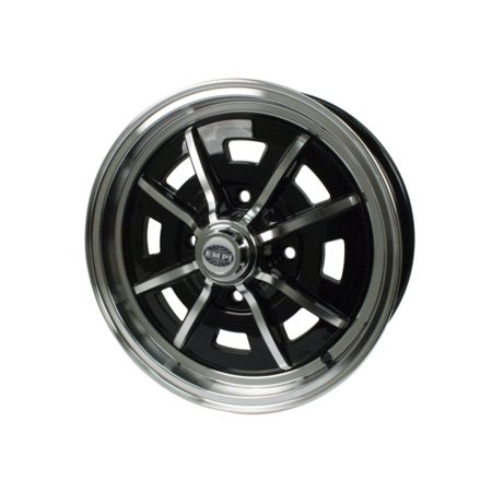 Sprintstar 8 spoke Wheel, Black w/Polished Lip & Spokes 4x130