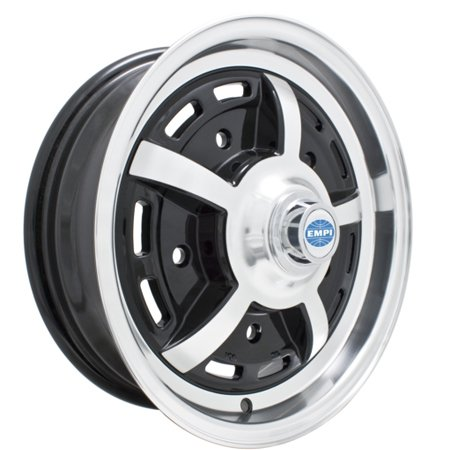 Sprintstar 5 SPOKE Wheel, Black w/ Polished Lip, 5/205