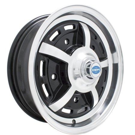Sprintstar 5 SPOKE Wheel, Black w/ Polished Lip, 5/205