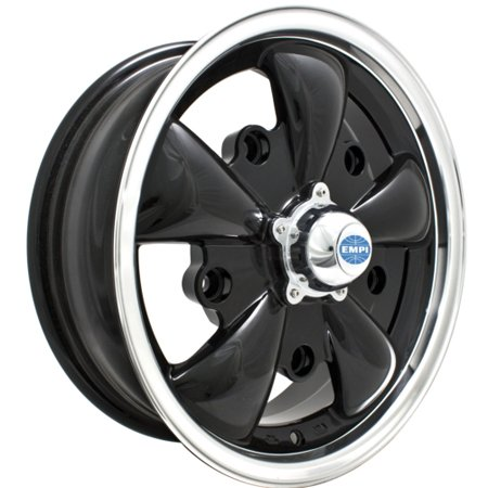 GT-5 Spoke Wheel GLOSS BLACK W/POLISHED LIP 5x205