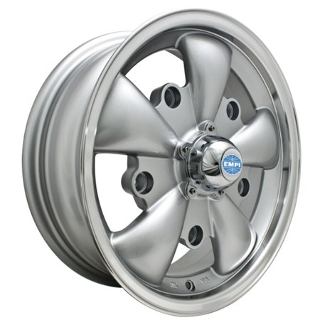 GT-5 Spoke Wheel SILVER W/POLISHED LIP 5x205