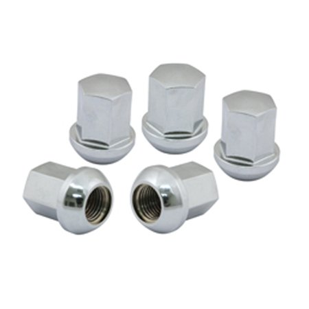 Porsche Style Aluminum Alloy Lug Nuts, CHROMED, Set of 5
